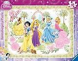 Ravensburger 06344 - Puzzle con cornice, Le principesse in giardino, 30 - 48 pezzi immagine