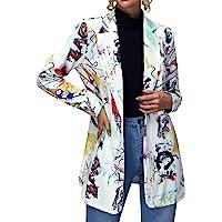 EUDOLAH Blazer Moda Donna Ragazza con Monopetto Cappotto Leggero Casual da Donna Ragazza