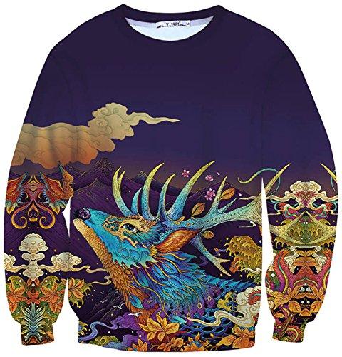 pizoff-unisex-round-neck-cutout-winter-warmth-thickened-sweatshirts-christmas-gifts-man-fir-tree-elk
