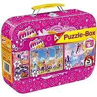 Schmidt Spiele 56510 - Mia und Me, Puzzle-Box, 2 x 60, 2 x 100 Teile, Klassische Puzzle im Metallkoffer