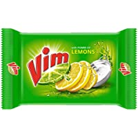 Vim Dishwash Bar Lemon, Removes Stain And Grease With Power Of Lemon, 200 g (Pack of 3)