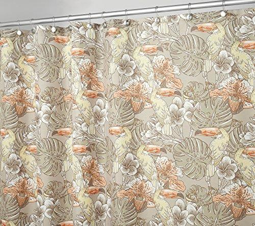 - Größe: 180 x 180 cm, Farbe: Natur - Wasserabweisend - Vorhang Badezimmer - Dusche Badewanne - Pflegeleicht ()