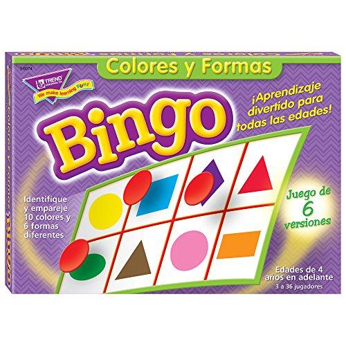 TREND ENTREPRISES T-6074 BINGO de colores Y FIGURAS OLD T086