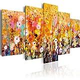 murando - Bilder 200x100 cm - Leinwandbilder - Fertig Aufgespannt - Vlies Leinwand - 5 Teilig - Wandbilder XXL - Kunstdrucke - Wandbild - Blumen Natur bunt gelb - Wie Gemalt a-B-0024-b-m
