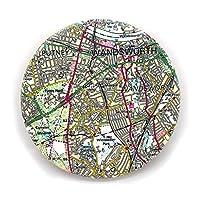 Modern Decorative Ceramic Personalised Postcode Map Landmark Coaster With Cork Base. Gift Present Idea New Home Decor Accessory.