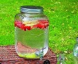 Cisternina per bevande e birra, da 8 litri, in vetro, per casa, esterni, picnic, bar e feste