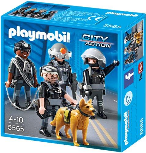 Preisvergleich Produktbild PLAYMOBIL 5565 - SEK-Team mit Polizeihund