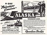 RelicPaper 1939Canadian Pacific: Princess Kreuzfahrten, Alaska, Canadian Pacific Print AD