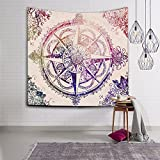 Mandala Hippie Bohemian Intricate Gypsy Indian Magical Thinking Tapestry Wall Hanging Boho Bedspread For Bedroom Living Room Dorm Décor (HYC02-C) (Multicolor2)