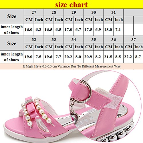 Zhhlaixing Kids Summer Pearl Princess Sandals Little Girl Breathable Non-slip Shoes purple