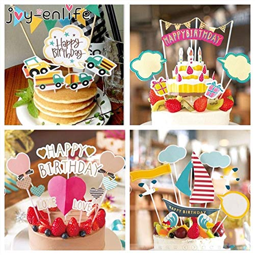 Wedding & Anniversary Bands Humble 1pcs Kids Birthday Party Art Door Cake Flags Baby Shower Happy Birthday Basketball Cupcake Cake Toppers Wedding Baking Decor