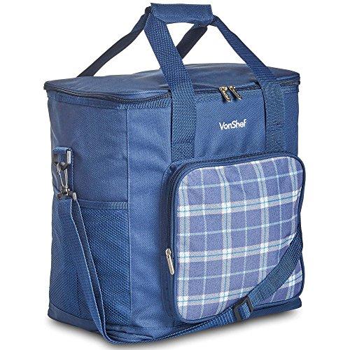 VonShef 30L Soft Kühltasche/Outdoor Groß Lunchtasche mit beleidigt Futter für Picknicks, Camping, Strand