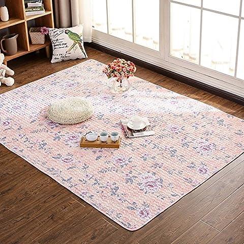 Japanese Style Tatami Rugs - MeMoreCool 100% Cotton Fresh Feelings Healthy Home Living Decor Anti-slipping Carpets Living Room Bedroom Crawling
