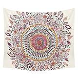 Goldbeing indischer Wandteppich Wandbehang Mandala Tuch Wandtuch Gobelin Tapestry Goa Indien Hippie-/ Boho Stil als Dekotuch /Tagesdecke indisch orientalisch psychedelic (203 x 153cm, Style 3)