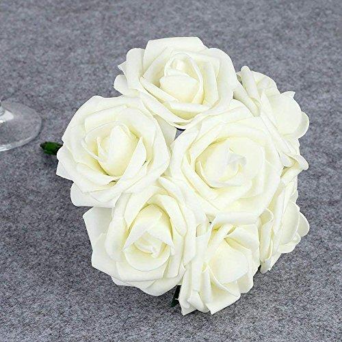 TiedRibbons Artificial Rose Flowers Bouquet 10 Heads/Bunch 8cm Wedding Bride Bouquet Living...