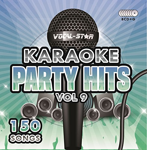 Karaoke Party Hits Vol 9 CDG CD+G Disc Set - 150 Songs on 8 Discs Including The Best Ever Karaoke Tracks Of All Time (Grease ,Cher, Lady Gaga, Sam Smith, Oasis & much more