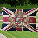 Mars & More - Gobelin Kissen - Union Jack - Wappen Kissen - Half Cushion Flag embleem 45x35 cm