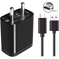 Fast Type C Charger for Nokia 7 Plus, Nokia 7.1, Nokia 7.1 Plus, Nokia 7.2, Nokia 8, Nokia 8 Sirocco, Nokia 8.1, Nokia 8.1 Plus, Nokia 8.2 Charger Original Adapter Like Mobile Charger | Power Adapter | Wall Charger | Fast Charger | Android Charger | Battery Charger Hi Speed Travel Charger With 1 Meter USB Type C USB Charging Data Cable (2.8 Amp, Black)