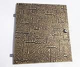 Renz entnahme Porte, pour boîte aux lettres 14–300modèle 01–750. L x B 33cm x 30cm Laiton Relief