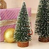 99native Sapin de Noel Artificiel Mini Arbre de Noël Miniature Decoration Table Intérieur,Mini Arbre de Noël, décoration de Noël, Cadeau de Noël (Vert, 20)