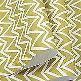 Gestreiftes Tapeten Minimalistischer Farbstil Geschwungenes Wellenmuster Vliesstoff Schlafzimmer Wohnzimmer Persönlichkeit,Yellow,0.53m*10m