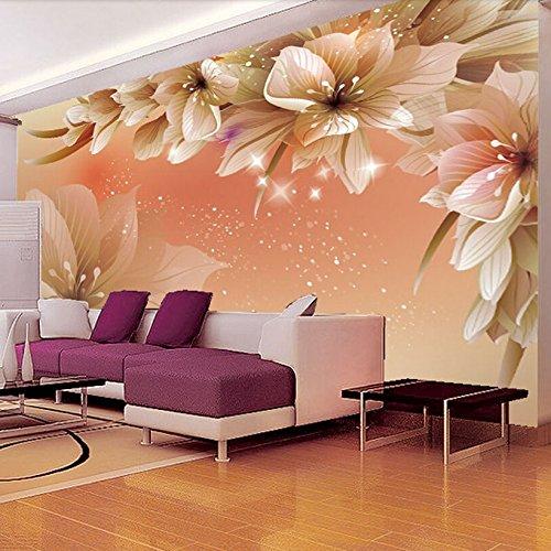 Custom 3D Fototapete moderne Blume Wandbild Tapete Wohnzimmer Sofa TV Hintergrund Vlies Tapete Schlafzimmer