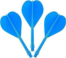 All in One–Flight und Schaft Combo–Durable Kunststoff–Blau–mit Darts Ecke gebogen Kugelschreiber