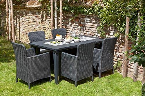 Ensemble Girona : Table + 4 fauteuils