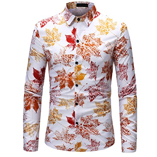 Zhuhaijq manica lunga slim fit festa uomo fancy camicie locale notturno casual 3d floreali hawaiano tops taglie forti per adolescenti