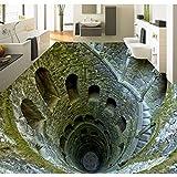 Lmopop Shocking Mine Pit Foto Bodenfliesen Tapete Wandbild 3D Wohnzimmer Badezimmer PVC Selbstklebende Bodenbelag Anti Verschleiß Aufkleber200X140Cm