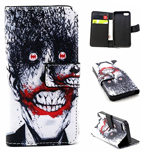 iPhone 6S Plus Case Flip Leather Wallet Case,Coque Etui pour iPhone 6S Plus,iPhone 6S Plus Coque en Cuir Folio Housse Flip Etui Housse pour iPhone 6 Plus,EMAXELERS iPhone 6S Plus Flip Etui de Protecti Horror Man 1