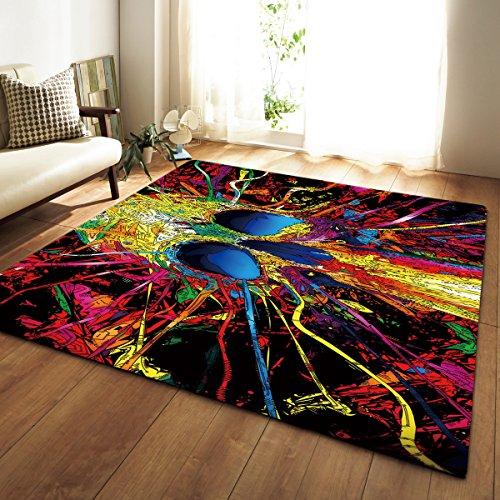 HYRL Carpets Bereich Teppiche 3D Soft Anti-Skid Yoga Für Wohnzimmer Schlafzimmer Innen Matte,#2,100X150cm