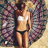 Merssavo Strand und Reisen Handtuch, Runde indischen Hippie Boho Wandteppich werfen Handtuch Mat Picknickdecke für Strand, Reisen, Fitness, Yoga, Pilates, Camping, Sport, Schwimmen und Baden