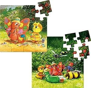 Vilac - 5439 - Puzzles Évolutifs - Drôles De Petites Bêtes - 41 Pièces