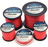 Aorace Braid Fishing Line 30LB solide et résistant à l'abrasion 300M Fiber Matériel Ligne de pêche Rouge avancée Superline