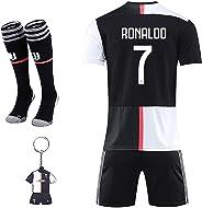 Rongli Maglia Ronaldo con Pantaloni, CR7 Maglia Replica Autorizzata 2019-2020 Bambino (Taglie- 2 4 6 8 10 12 14Anni) Adulto (