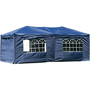 pavillon faltbar 3x6m blau inkl seiten. Black Bedroom Furniture Sets. Home Design Ideas