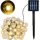 VISLONE Solar String Lights Garden, 55FT 100 LED Crystal Balls Fairy Lights Outdoor Waterproof, Constant and Flash Decorative