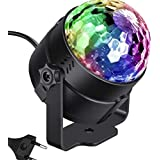 Sound Activated Rotating Disco Ball Party Lights Strobe Light 3W RGB LED Stage Lights For Christmas Home KTV Xmas Wedding Sho