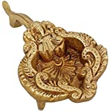 Brass, Handmade Oil Lamp, Indian Lord Ganesha Diya, 5 x 2.75 x 1 inches
