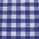 Baumwollstoff Züchen Meterware Vichy Karo groß Blau-Weiss