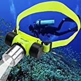 Trade-Shop CREE XM-L T6 LED Stirnlampe Kopflampe Tauchen Unterwasser Licht Wasserdicht 30m Diving Lamp Light Headlamp Headlight
