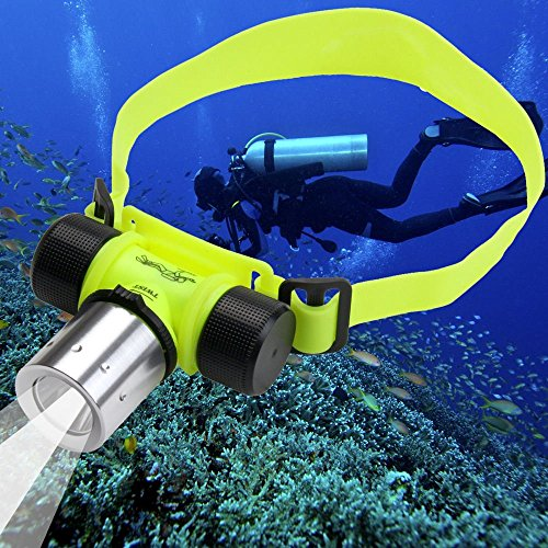 CREE XM-L T6 LED Stirnlampe Kopflampe Tauchen Unterwasser Licht Wasserdicht 30m Diving Lamp Light Headlamp Headlight