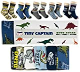 Best 4 Year Old Boy Gifts - Tiny Captain Boys Socks Dinosaur Prints Best Gift Review