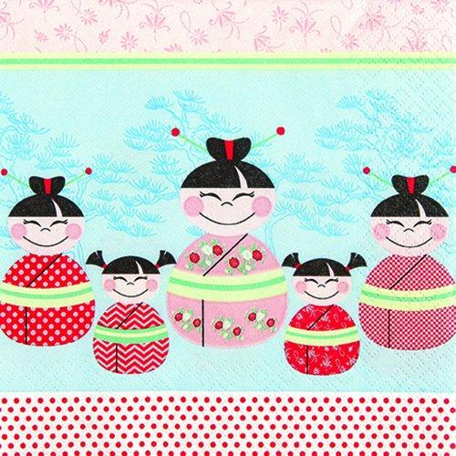 20 Servietten Happy Asia Kids – Glückliche asiatische Kinder / Asien 33x33cm (Glücklichen Servietten)