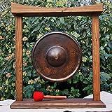 Gong con marco de madera