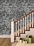 PPD Wallpapers. High Quality Stone Brick Wall Effect Pre Gummed Wallpaper (Self Adhesive) (3 Tiles / 5.5 SqFt)