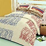 Raymond Travel Cotton Double Bedsheet wi...