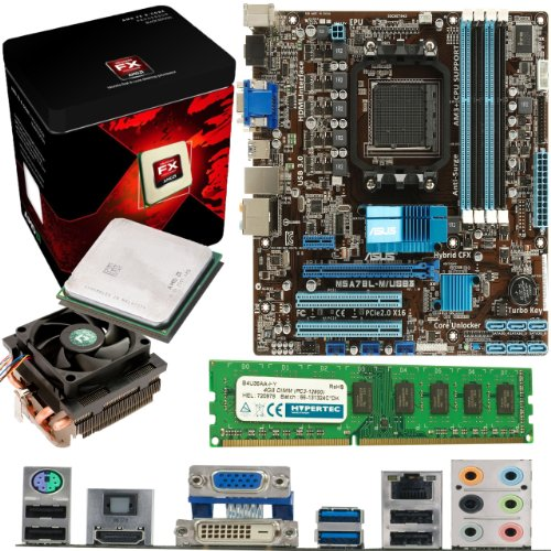 Affordable AMD Vishera FX-8350 8 Core 4Ghz, ASUS M5A78L-M USB3 Motherboard & 4GB 1600Mhz DDR3 RAM Pre-Built Bundle Special