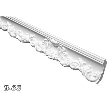 sparpaket zierleiste innendekor dekorprofil stuck decke 52x63mm b 35 sparpaket 10 meter